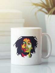 Кружка с рисунком Боб Марли (Bob Marley) белая 004