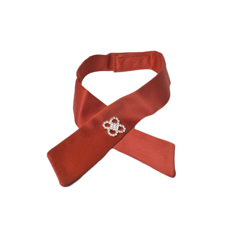 Галстук-бабочка Elpa (лента с украшением) красная