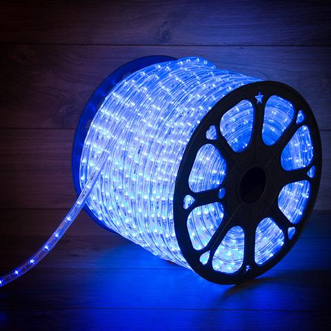 Гирлянда шланг силиконовая трубка 100м синий