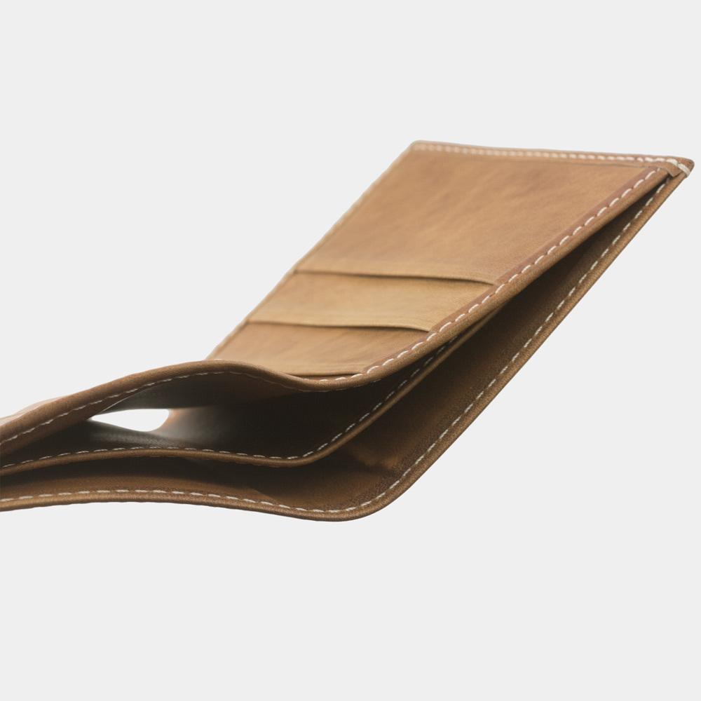 Кошелек-портмоне Pochette-Line Easy из натуральной кожи теленка, цвета винтаж