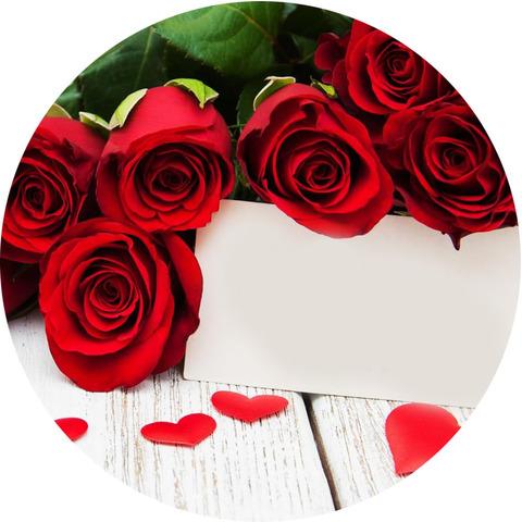 Печать на вафельной бумаге, День Влюбленных 43