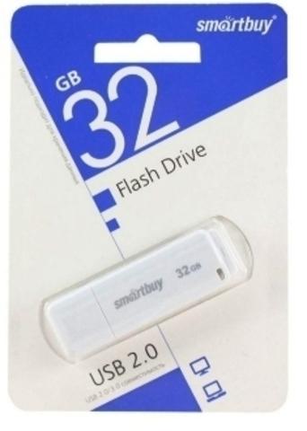 Флеш-накопитель USB  32GB  Smart Buy LM05 белый