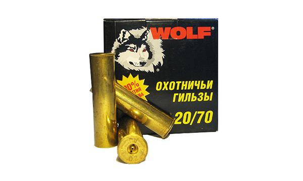Гильза металлическая латунная охотничья 20 калибра 20/70