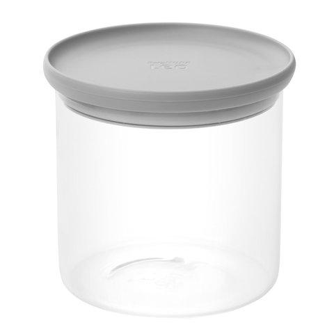 Контейнер для хранения продуктов стеклянный с мерной ложкой 1л Leo