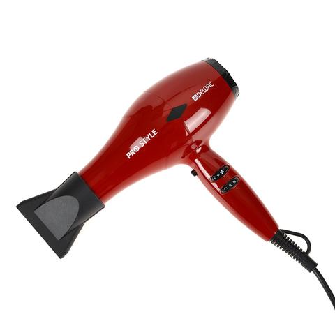 Фен Dewal Pro Style, 2000 Вт, 2 насадки + диффузор, красный