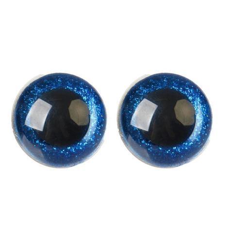 Глазки пластиковые с искоркой 24 мм синий