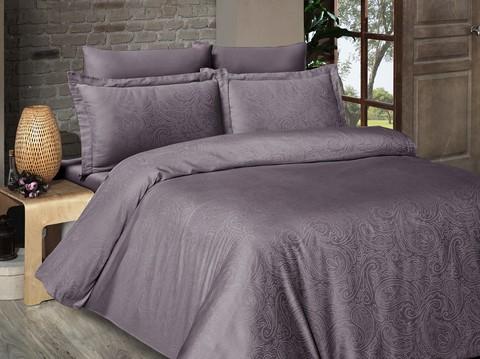 Комплект постельного белья DO&CO Сатин  жаккард LAVENDAR 2 спальный Евро цвет сиреневый