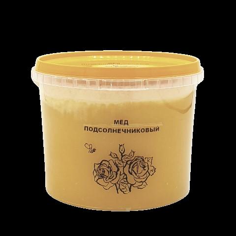 Мёд натуральный ПОДСОЛНЕЧНИКОВЫЙ, 1 кг