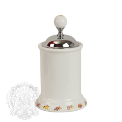 Баночка высокая Migliore Provance ML.PRO-60.528 керамика с декором h14см.