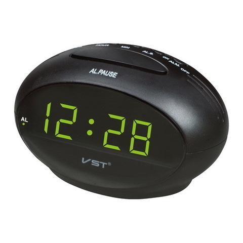 Часы сетевые 711-2 зеленые, USB