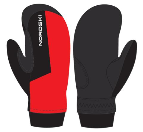 Варежки Nordski Arctic Red/Black WS