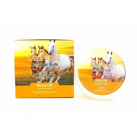 Deoproce Natural Skin Horse Oil Nourishing Cream крем для лица и тела на основе лошадиного жира