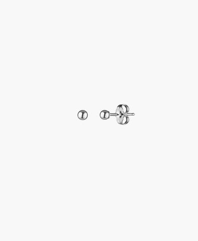 Серьги-гвоздики Ball silver 4 mm