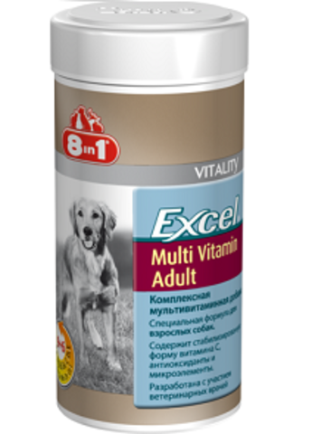 8 in 1 EXCEL витамины Adult Multi Vitamin для собак 70 таблеток