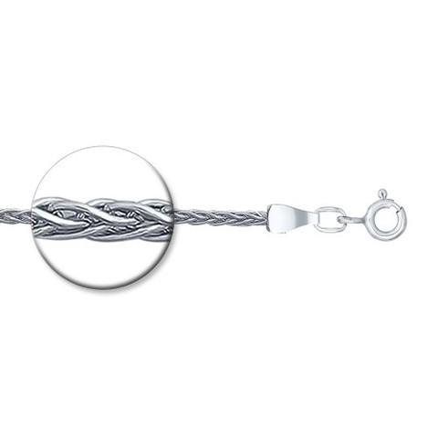 968410450 -Цепь из серебра плетения колос