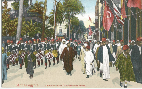 L`armee egypte. La musique de la Garde faisant la parade