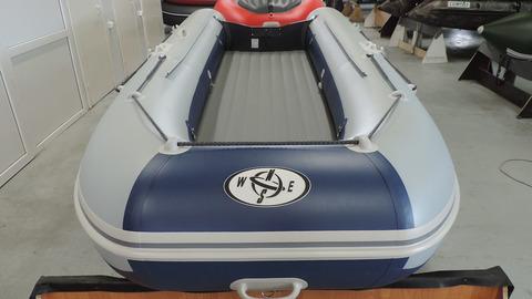Надувная лодка Compas-400 с НДНД, св.серая/синий