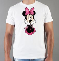 Футболка с принтом Минни Маус (Minnie Mouse) белая 003