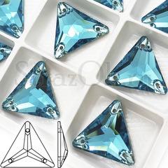 Купить пришивные стразы бирюзовые Aquamarine Triangle в Казани