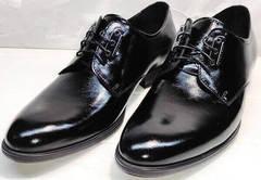 Деловые туфли мужские лакированные Ikoc 2118-6 Patent Black Leather