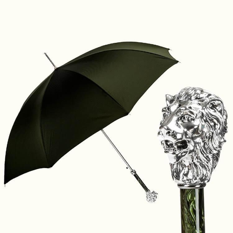 Зонт-трость Pasotti 6768-1W37PB Leo Lux Emerald