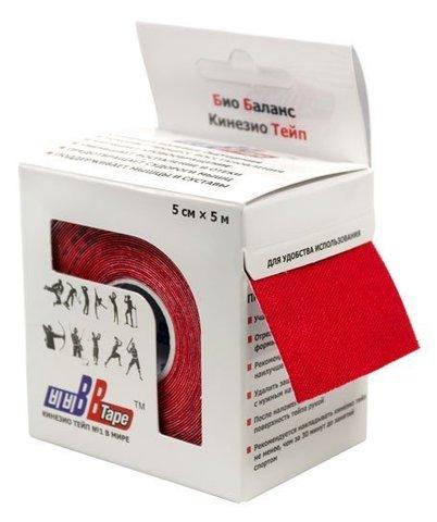 BBtape кинезио тейп 5см х 5м (красный)