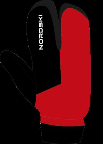 Лыжные перчатки-лобстеры Nordski Arctic Red/Black WS детские