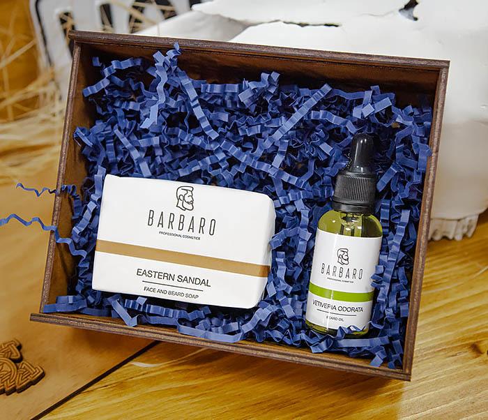 Набор для ухода за бородой с мылом и маслом Barbaro «Vetiveria Odorata»