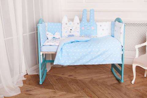 Комплект постельного белья Кися-Зая Синий