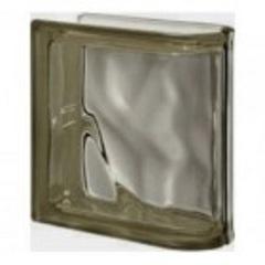 Купить торцевой стеклоблок серый окраска в массе Vitrablok 19x19x8