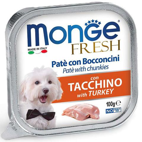 Monge Dog Fresh Консервы для собак из индейки (ламистер)