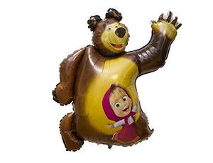 Фольгированный шар Маша и Медведь 35