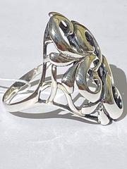 Хохлома (кольцо  из серебра)