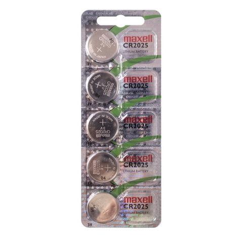 Батарейки литиевые Maxell CR 2025 5 BL (Япония)