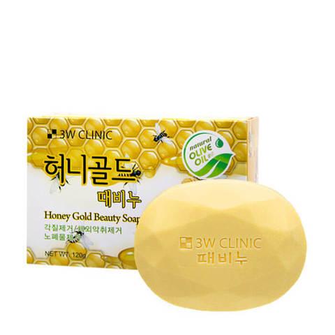3W Clinic Honey Gold Beauty Soap Мыло кусковое с медом 120 гр