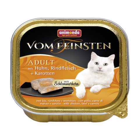 Animonda Vom Feinsten Adult Меню для гурманов Консервы для кошек с курицей, говядиной и морковью