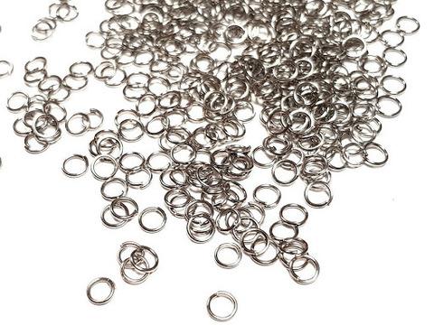 Соединительные колечки разъемные 6 мм, 10 шт. Цвет темное серебро.