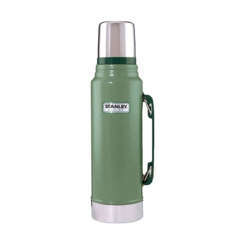 Набор Stanley Legendary Classic термос (1 литр) + фляга (0,23 литра) зеленый