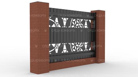 Забор из профлиста 2500х2000 мм ZBR0024 (столб для забора продается отдельно)