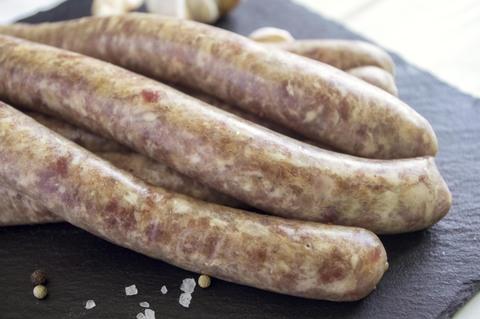 Колбаса в натуральной оболочки из мяса