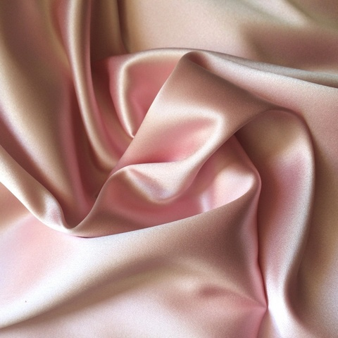 Шелк розовый атласный с эластаном 1072