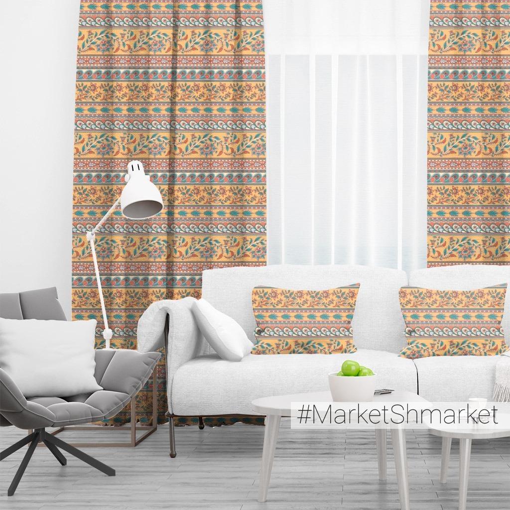 Горизонтальные цветочные орнаменты. Индийский стиль. (Дизайнер Irina Skaska)