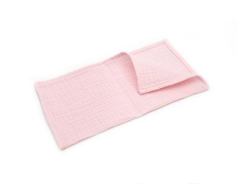 Муслиновая салфетка нежно-розовая (24*24)