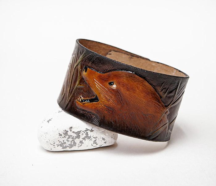 BL476 Мужской браслет «Хитрый Лис» из натуральной кожи, ручная работа
