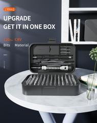 Набор инструментов для точных работ с гибким валом и сменными битами KniknakTech 130 в 1
