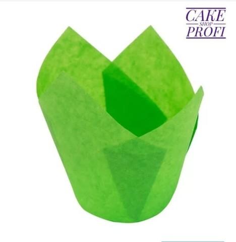 Форма бумажная Тюльпан Зеленая, 50х80мм. (20шт)