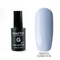 Grattol, Гель-лак 118, Pale Cornflower, 9 мл