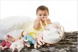 Текстильный набор: кукла, бутылочка, люлька