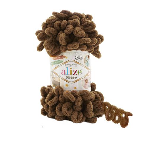 Купить Пряжа Alize Puffy Код цвета 321 Коричневый | Интернет-магазин пряжи «Пряха»
