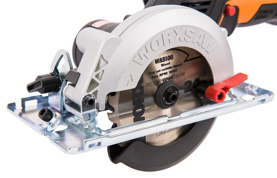 Циркулярная мини-пила аккумуляторная бесщеточная 120 мм WORXSAW WX531.9 20В